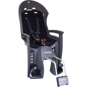 Hamax Smiley Bike Seat with Lockable Bracket grey/black